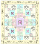 OOAK quilt design for April